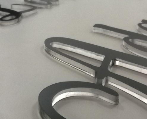 lettere in 3d in plexiglass