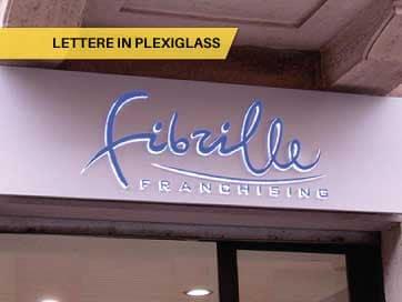 Lettere in Plexiglass